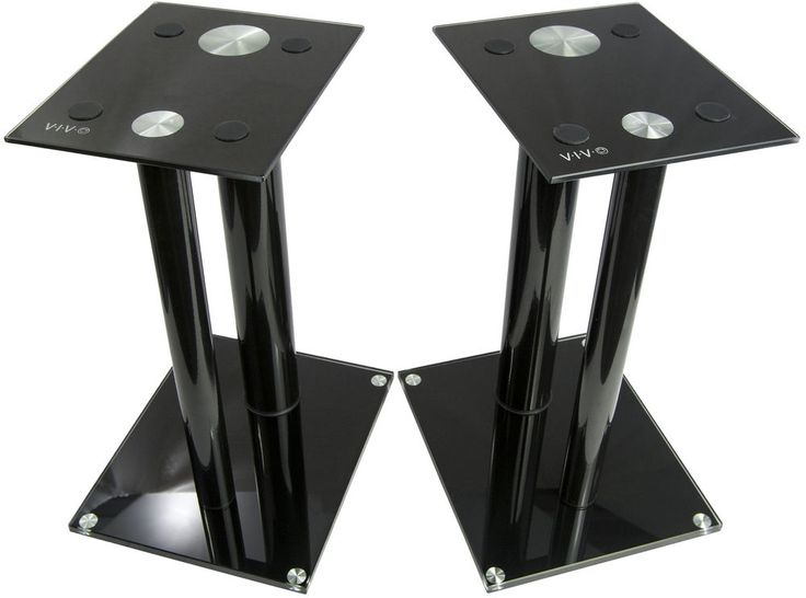 Mount-It! Speaker Stands for Book Shelf and Surround Sound Speakers, Universal Fit